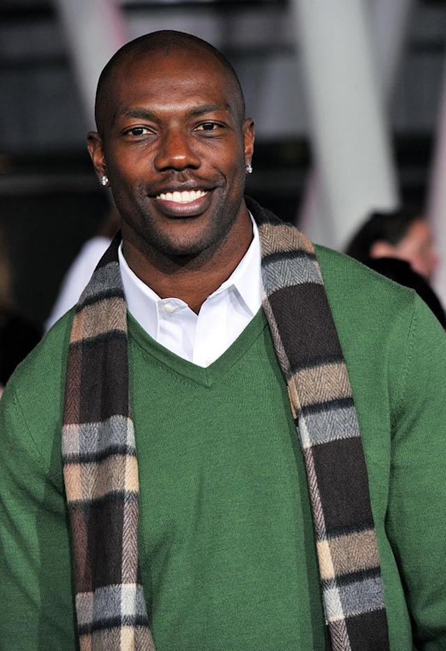 "Terrell Owens arrives at ""The Twilight Saga: Breaking Dawn - Part 2"" Los Angeles premiere at the Nokia Theatre L.A. Live on November 12, 2012 in Los Angeles, California. (Photo by Lester Cohen/WireImage)"