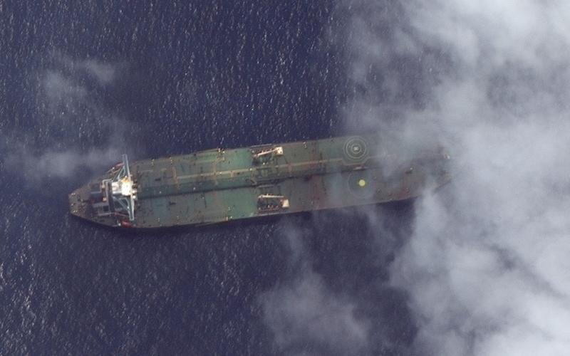 What appears to be the Iranian oil tanker Adrian Darya 1 off the coast of Tartus, Syria - Reuters