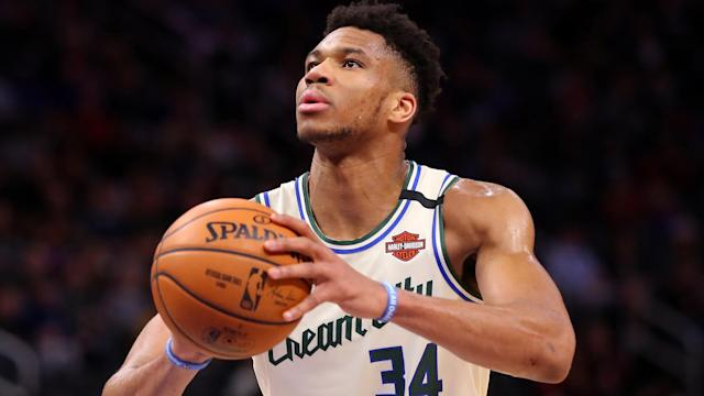 Milwaukee Bucks star Giannis Antetokounmpo had a double-double in a win over the Detroit Pistons.