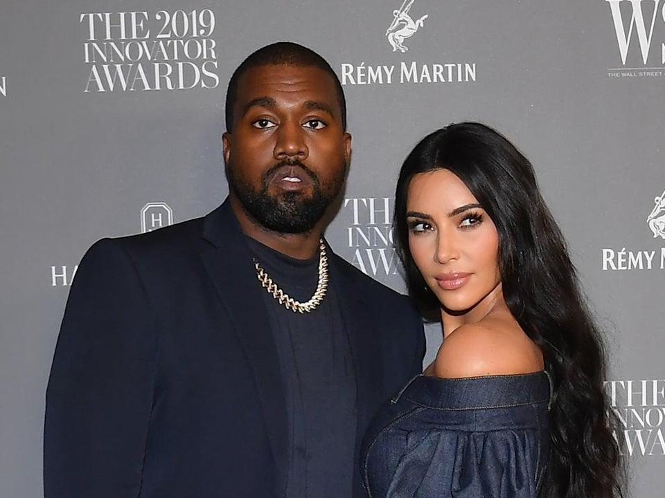 Kanye West and Kim Kardashian in 2019 (Angela Weiss/Getty Images)
