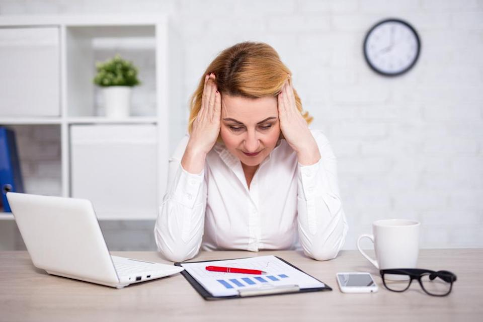 """Like constant fatigue, dealing with <a href=""""https://bestlifeonline.com/anxiety-excitement/?utm_source=yahoo-news&utm_medium=feed&utm_campaign=yahoo-feed"""" rel=""""nofollow noopener"""" target=""""_blank"""" data-ylk=""""slk:chronic anxiety"""" class=""""link rapid-noclick-resp"""">chronic anxiety</a> is no way to go through life. Anxiety is debilitating and interferes with good health and happiness, Brayer explains. It is also one of the most common reasons people become addicted to alcohol, sex, drugs, shopping, and overeating, she says. Your best bet is to talk to a professional before your anxiety becomes worse and affects your health even more than it already does."""
