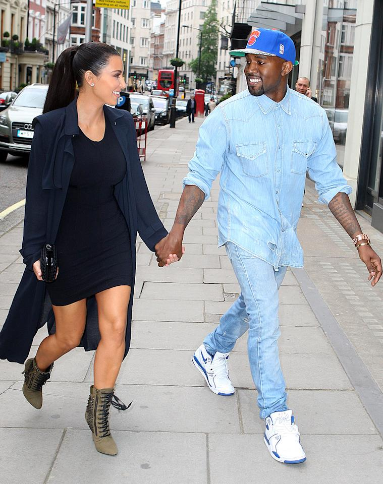 Kim Kardashian and Kanye West continued their international love tour in  London on Sunday when they headed out for dinner hand-in-hand at  Chinese eatery Hakkasan. The reality star has been following her  rapper-beau during his Watch the Throne tour with Jay-Z. (5/20/2012)
