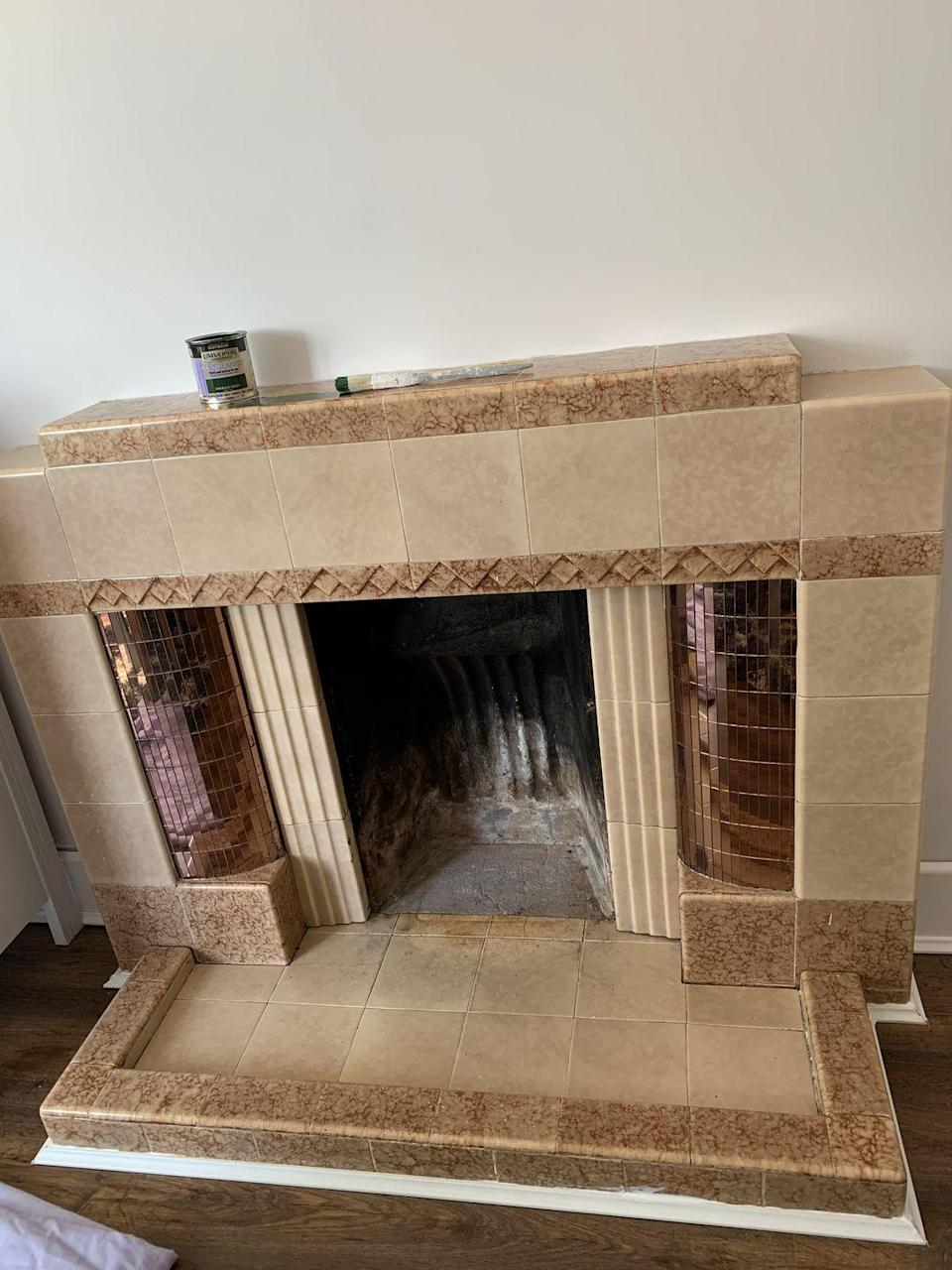 <p>Instead of replacing her fireplace, Gemma restored its condition with a little paint job — and it looks amazing! </p>