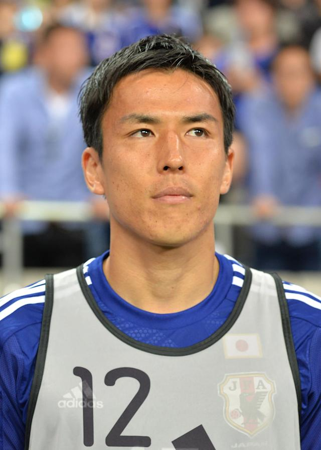 Japan's Makoto Hasebe before the start of the football friendly against Cyprus in Saitama on May 27, 2014 (AFP Photo/Kazuhiro Nogi)