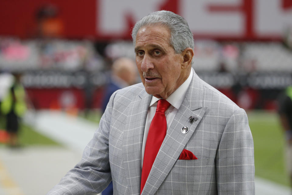 Falcons owner Arthur Blank and his foundation announced $5.4 million in donations to coronavirus related relief efforts. (AP Photo/Rick Scuteri, File)