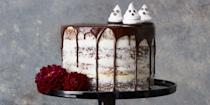 """<p>You should be afraid — very afraid — of these creepy Halloween cakes. They're scary delicious! Pumpkin chocolate layer cake makes the perfect centerpiece for <a href=""""https://www.goodhousekeeping.com/holidays/halloween-ideas/g565/halloween-party-ideas/"""" rel=""""nofollow noopener"""" target=""""_blank"""" data-ylk=""""slk:Halloween parties"""" class=""""link rapid-noclick-resp"""">Halloween parties</a>, while a devilishly delicious Halloween bundt cake is a great way to fuel-up for trick-or-treating. Haunted house cakes and graveyard cakes are fun to make with kids, and you can decorate your own with spooky shapes, leftover Halloween candy, red food coloring, chocolate sprinkles and other edible decorations. With some of these <a href=""""https://www.goodhousekeeping.com/holidays/halloween-ideas/g244/halloween-desserts/"""" rel=""""nofollow noopener"""" target=""""_blank"""" data-ylk=""""slk:Halloween desserts"""" class=""""link rapid-noclick-resp"""">Halloween desserts</a>, you'll even have a few more party guests at your house like mummies, ghosts, witches and — worst of all — spiders. Whatever recipe you decide to try, don't skimp on the frosting or sprinkles because October 31 is the one day a year when sugar is basically it's own food group (parents, we're sorry!).</p><p>But don't stop here: Finish off your Halloween dessert table with these festive <a href=""""https://www.goodhousekeeping.com/holidays/halloween-ideas/g2711/halloween-cupcakes/"""" rel=""""nofollow noopener"""" target=""""_blank"""" data-ylk=""""slk:Halloween cupcake ideas"""" class=""""link rapid-noclick-resp"""">Halloween cupcake ideas</a> and <a href=""""https://www.goodhousekeeping.com/holidays/halloween-ideas/g3676/easy-halloween-cookie-recipes/"""" rel=""""nofollow noopener"""" target=""""_blank"""" data-ylk=""""slk:Halloween cookie recipes"""" class=""""link rapid-noclick-resp"""">Halloween cookie recipes</a>. Throw on a <a href=""""https://www.goodhousekeeping.com/holidays/halloween-ideas/g23570139/halloween-movies-netflix/"""" rel=""""nofollow noopener"""" target=""""_blank"""" data-ylk=""""slk:Halloween Netflix movi"""