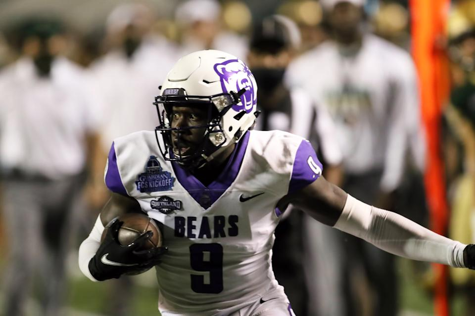 Central Arkansas CB Robert Rochell is a bit raw but has top-100 potential for the 2021 NFL draft. (Photo by Michael Wade/Icon Sportswire via Getty Images)