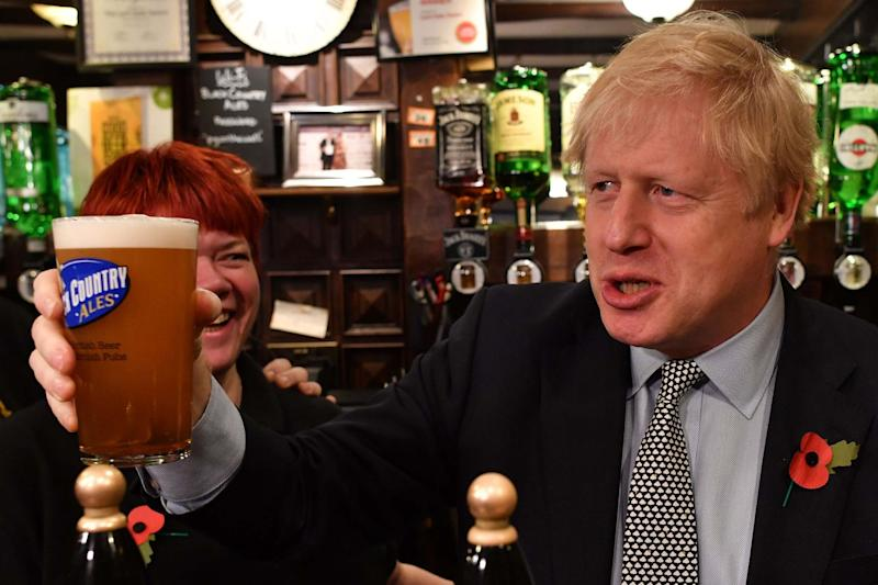 Britain's Prime Minister Boris Johnson: POOL/AFP via Getty Images