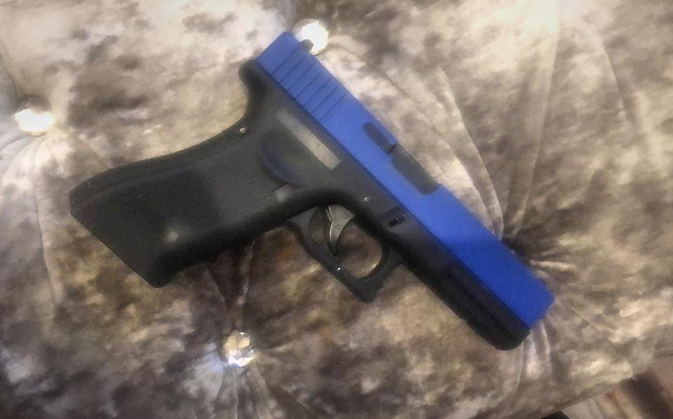 Undated handout photo issued by Alice Agyepong of a toy gun owned by her son Kai who was arrested by police while playing with it believing it to be real.