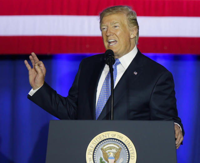 President Trump, speaking in Indianapolis on Sept. 27, said that his tax proposal will help middle-class families save money and eliminate loopholes that benefit the wealthy. (Photo: Michael Conroy/AP)