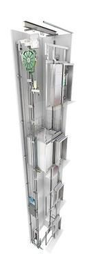 KONE MonoSpace 300 is an affordable, machine room-less elevator solution optimized for two-to-four story buildings