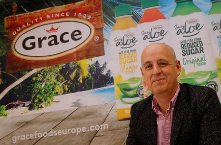 Managing Director for Grace Foods UK Adam Reader poses at their distribution centre in Welwyn Garden City, Britain September 25, 2017. Picture taken September 25, 2017. To match Insight BRITAIN-EU/COMPANIES    REUTERS/Darren Staples