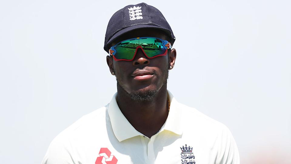 Seen here, Jofra Archer was the victim of a racial attack from a cricket fan in New Zealand.