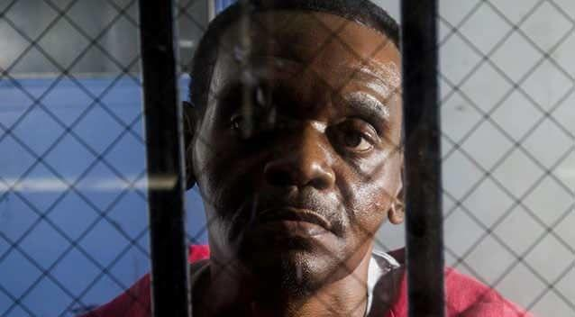 The 50-year-old behind bars. Picture: AP