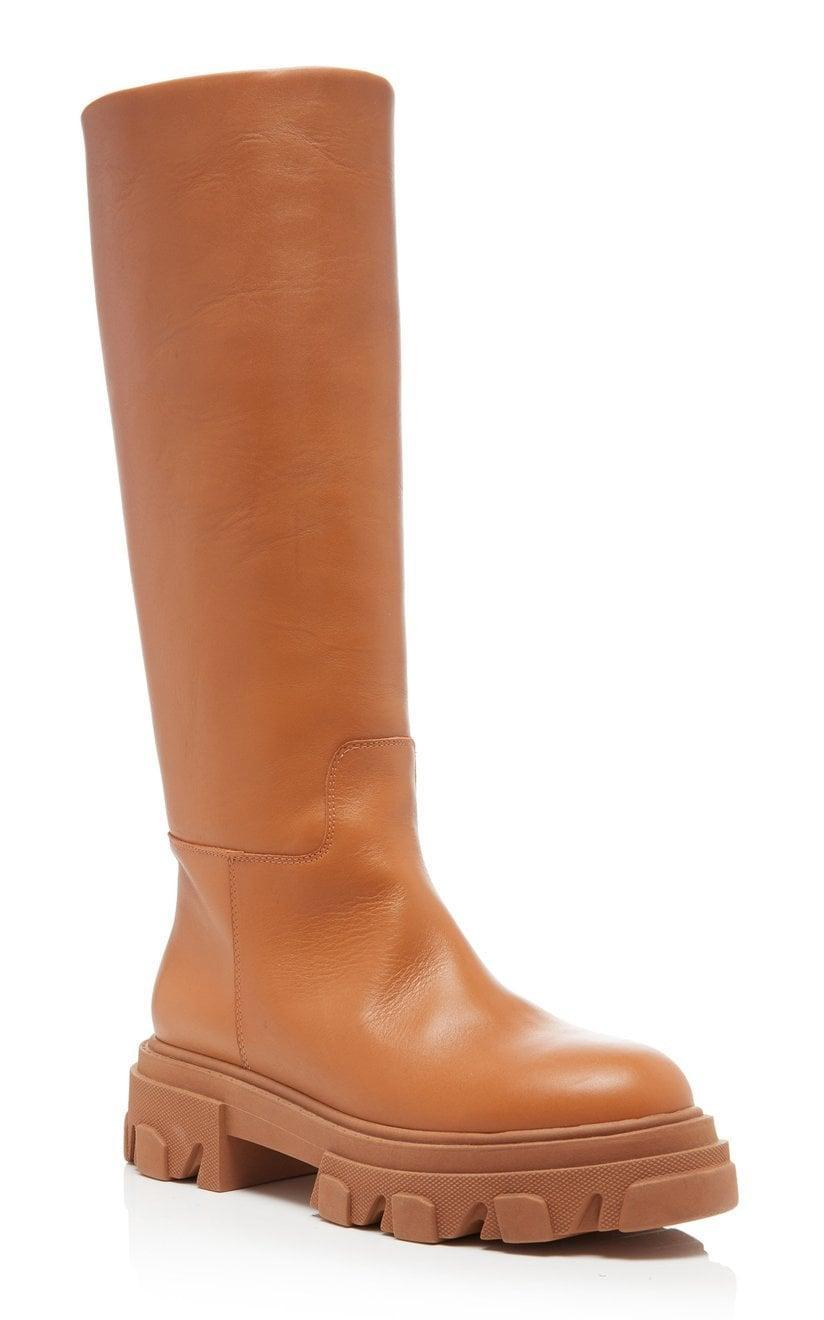 <p>These <span>Gia x Pernille Teisbaek Tubular Combat Boots</span> ($580) come in four different colors, but we're loving the light brown shade.</p>