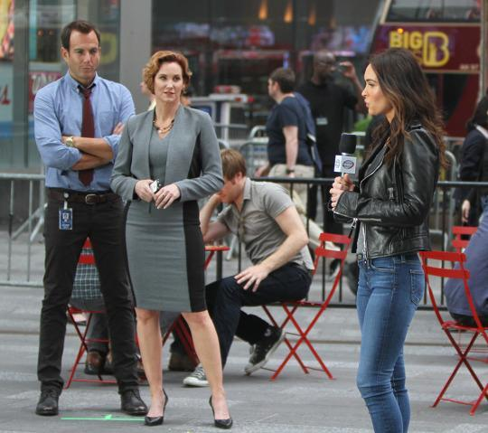 Megan Fox Spotted With Original April O Neil On Set Of Tmnt 2