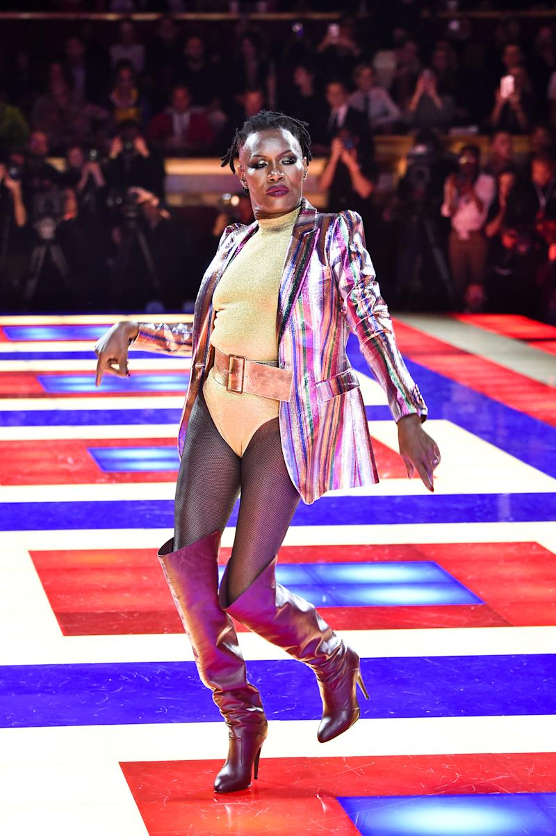 Zendaya might not be a casting director, or even a designer, but she more than proved herself to the industry at her joint show with Tommy Hilfiger during Paris Fashion Week, which featured not only entirely black models, but also none other than Grace Jones. As ever, Jones did not disappoint: The 70-year-old icon danced down the runway as expertly as she did decades ago at Studio 54.