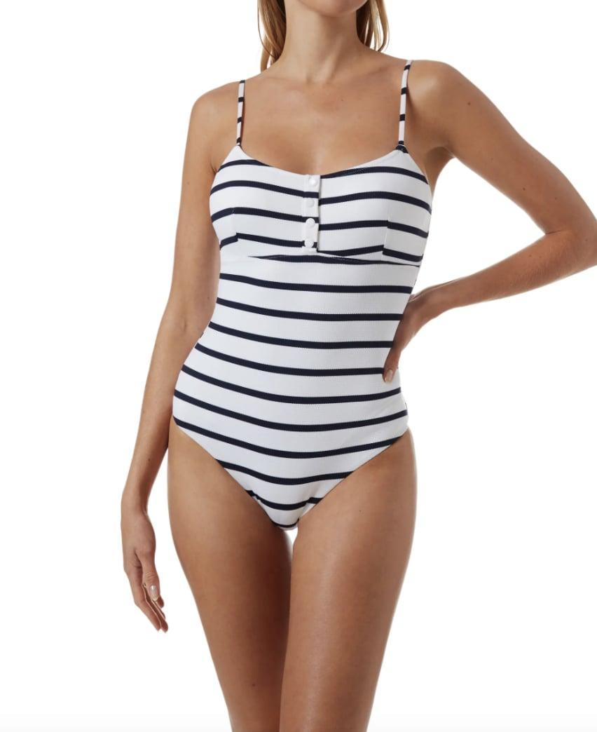 <p>Feel like a total babe in this <span>Melissa Odabash Calabasas Ribbed One-Piece Swimsuit</span> ($244).</p>