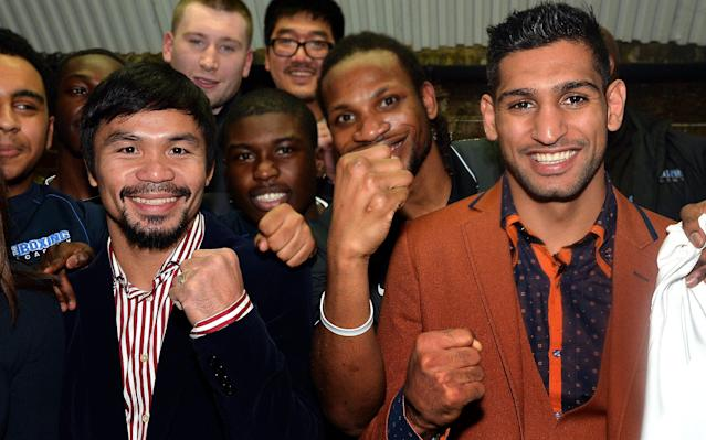 <span>Amir Khan is keen to fightManny Pacquiao</span> <span>Credit: PA </span>