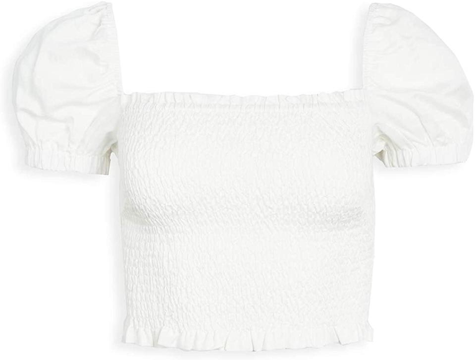 <p>This <span>ASTR the Label Short Sleeve Square-Neck Mason Smocked Crop Top</span> ($74, originally $78) is a playful option for spring picnics.</p>