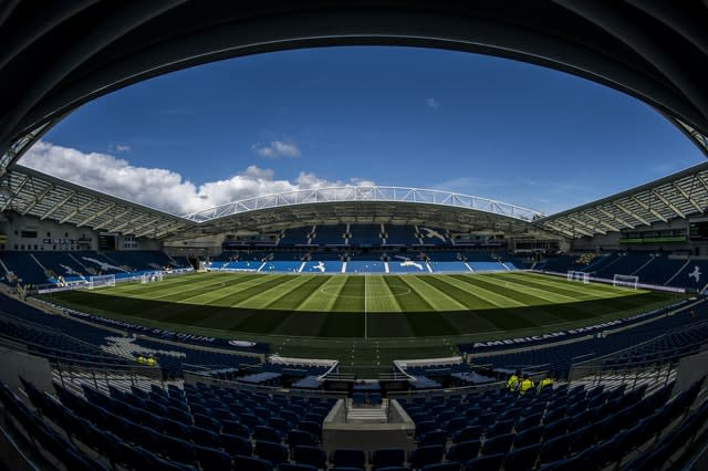 Brighton are insistent that they want to play their remaining home games at the Amex Stadium (Daniel Hambury/PA)