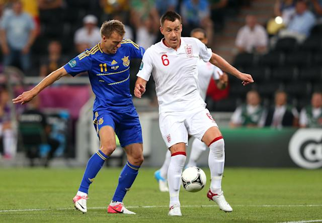 <p>Terry retired from England duty after Euro 2012. He made 78 appearances for his country and had two spells as captain, but was stripped of the honour both times (Getty Images) </p>