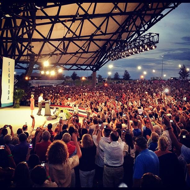 Mitt and Ann Romney in Apopka FL
