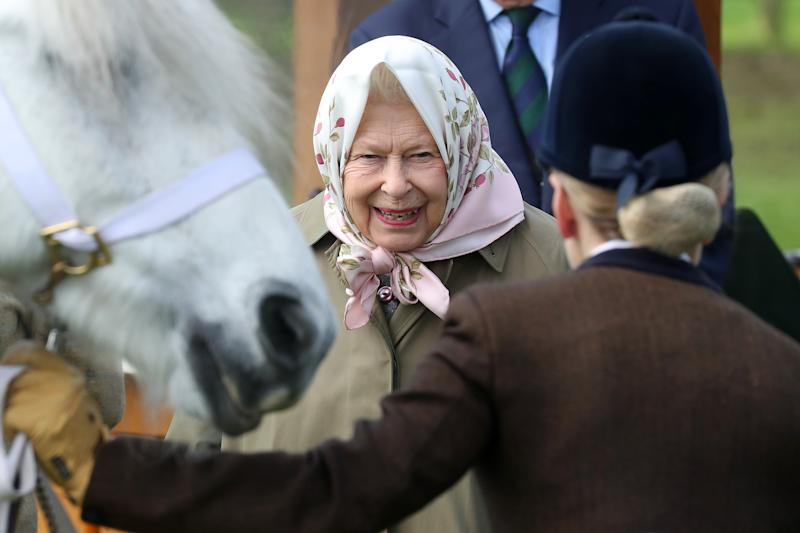 WINDSOR, ENGLAND - MAY 10: Queen Elizabeth II attends the Royal Windsor Horse Show 2019 on May 10, 2019 in Windsor, England. (Photo by Chris Jackson/Getty Images)