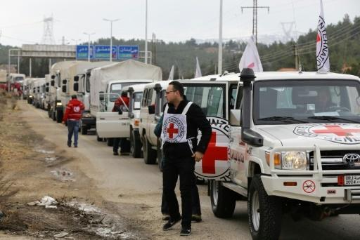 Aid trucks enter starvation-hit Syria town
