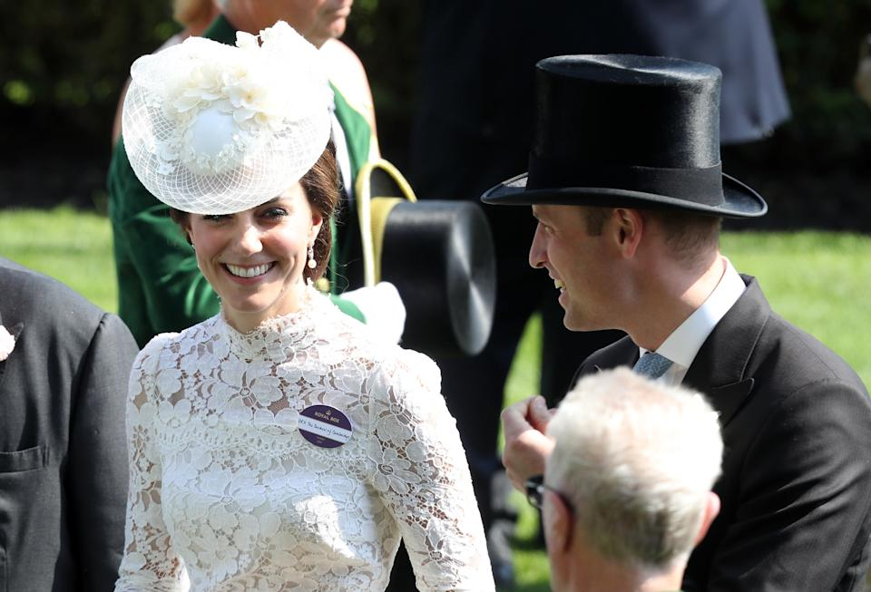 The couple attend Royal Ascot with other family memebers on 20 June 2017Getty Images