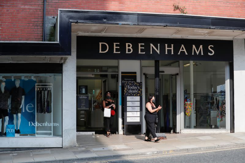FILE PHOTO: General view of a Debenhams store in Harrogate