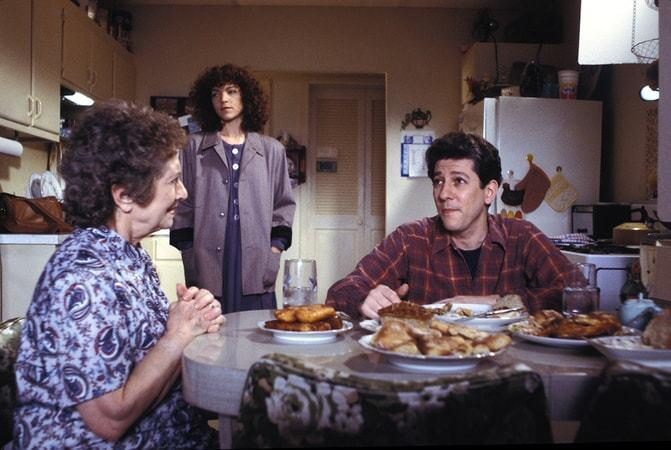 """Reizl Bozyk, left, Amy Irving and Peter Riegert in Joan Micklin Silver's """"Crossing Delancey."""""""