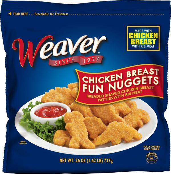 Weaver Chicken Breast Fun Nuggets