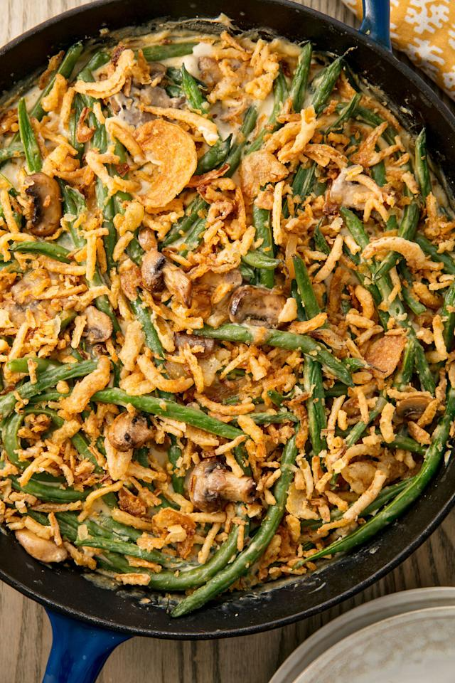 """<p>The epitome of Thanksgiving.</p><p>Get the recipe from <a rel=""""nofollow"""" href=""""http://www.delish.com/cooking/recipe-ideas/recipes/a55340/easy-homemade-classic-green-bean-casserole-recipe/"""">Delish</a>.</p>"""