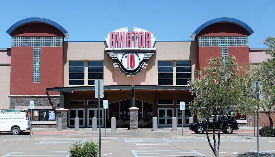 Movie theaters throughout southeastern New Mexico, including the Aviator 10 in  Alamogordo, reopened with the relaxing of state health restrictions related to the COVID-19 pandemic.