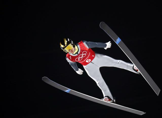 Ski Jumping - Pyeongchang 2018 Winter Olympics - Men's Team Trial round - Alpensia Ski Jumping Centre - Pyeongchang, South Korea - February 19, 2018 - Olympic Athlete from Russia Alexey Romashov competes. REUTERS/Dominic Ebenbichler