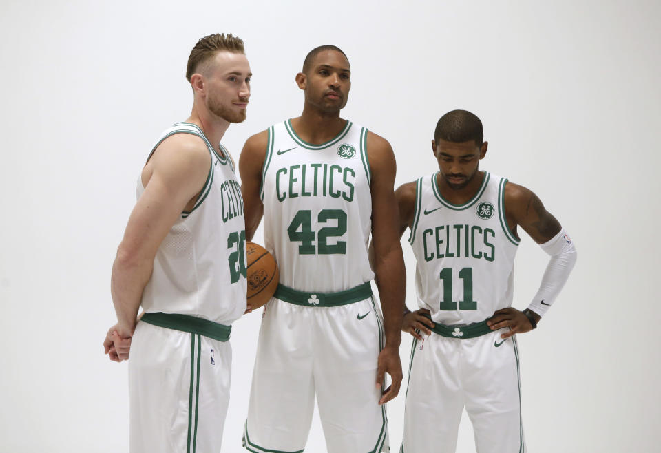 The Celtics have a new Big Three that seemed almost unimaginable at the end of the previous Big Three era. (AP)