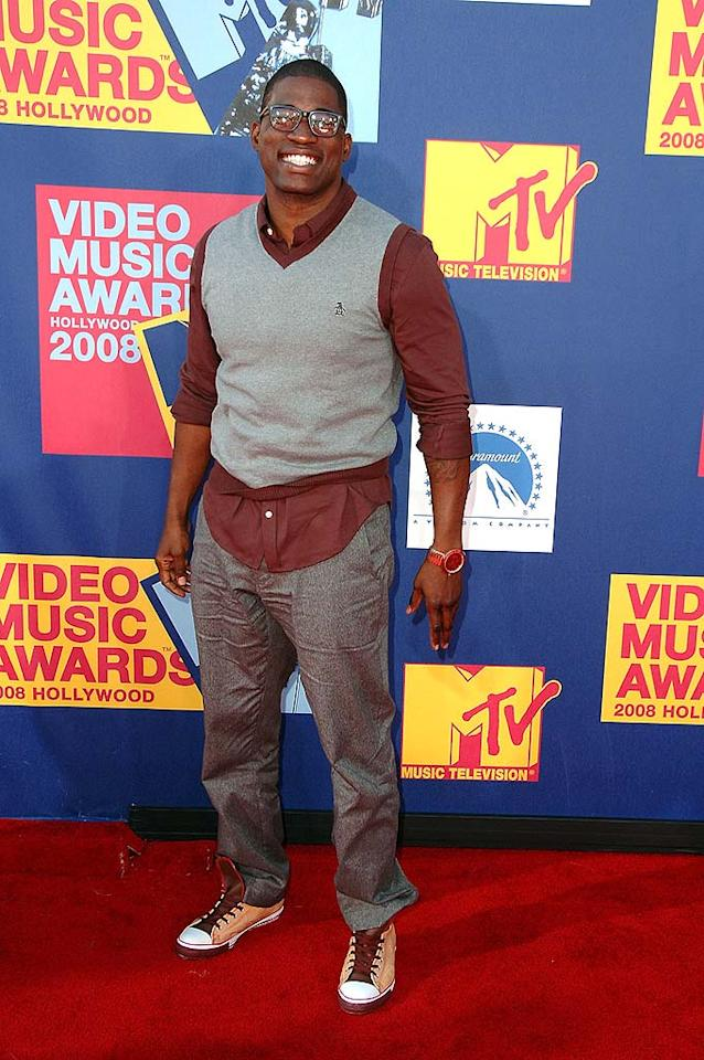 """Worst: A tucked shirt and ironed pants would've made all the difference for rapper David Banner's outfit. Steve Granitz/<a href=""""http://www.wireimage.com"""" target=""""new"""">WireImage.com</a> - September 7, 2008"""
