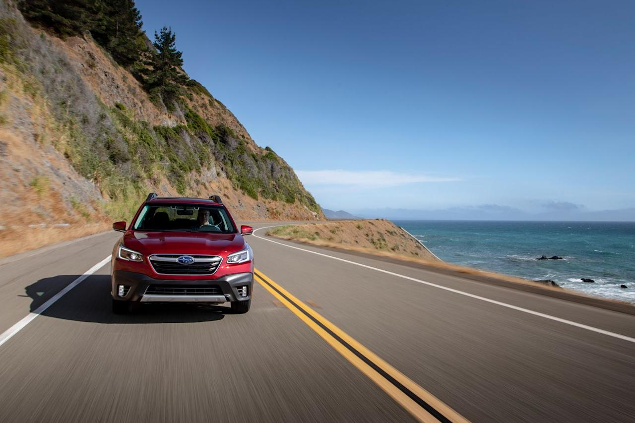<p>The redesigned Outback comes with one of two powertrains: either a 182-hp 2.5-liter flat-four or a 260-hp turbocharged 2.4-liter flat-four.</p>
