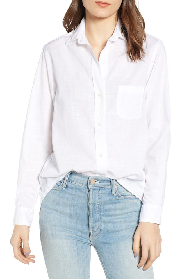 "<p><strong>GRAYSON</strong></p><p>nordstrom.com</p><p><strong>$128.00</strong></p><p><a rel=""nofollow"" href=""https://shop.nordstrom.com/s/grayson-the-hero-washed-cotton-shirt/5215299"">Shop Now</a></p>A washed cotton shirt with subtle crosshatching serves as an effortlessly cool and casual go-to.""/"