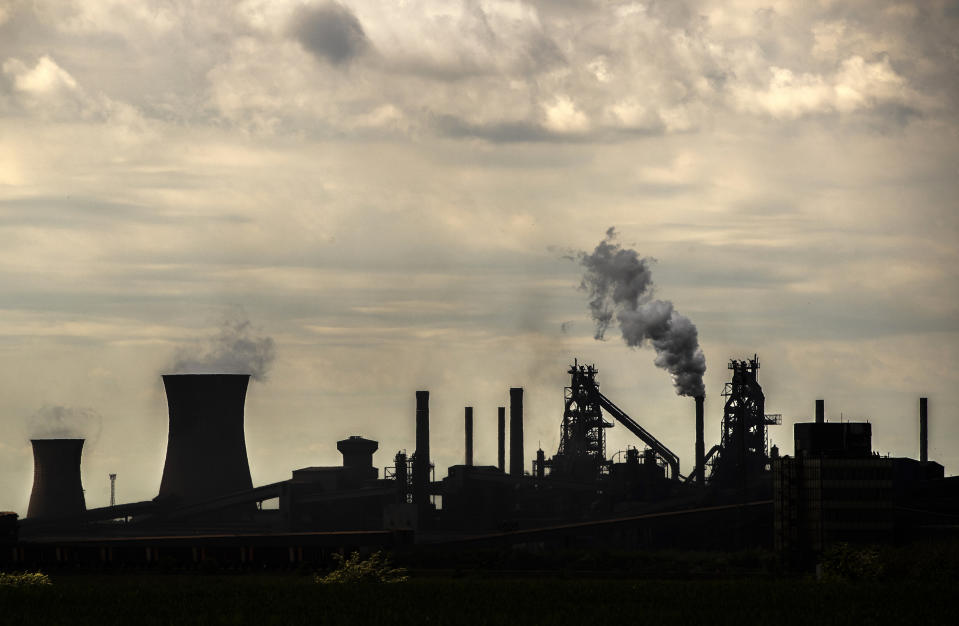 The steelworks plant in Scunthorpe as owner British Steel is to go into official recievership after failing to secure funds for its future.