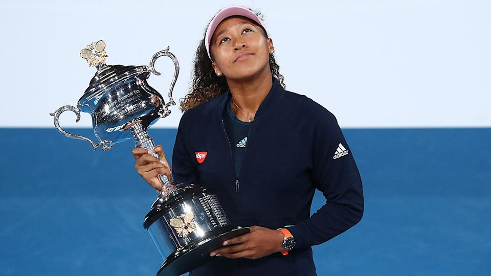 Naomi Osaka, pictured here after winning the Australian Open in 2019.
