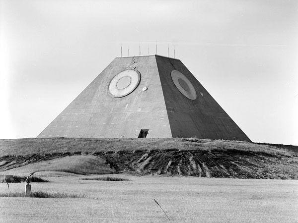 "<p><a href=""http://www.atlasobscura.com/places/pyramid-north-dakota"" rel=""nofollow noopener"" target=""_blank"" data-ylk=""slk:Designed as a pyramid for an unknown reason"" class=""link rapid-noclick-resp"">Designed as a pyramid for an unknown reason</a>, the Mickelsen Safeguard Complex near Nekoma, N.D., was a radar system intended to find and destroy missiles launched at the U.S. Inside the complex, along with radar, were 30 Spartan antiballistic missiles and 16 Sprint missiles.</p><p>Because of a treaty with the Soviet Union that limited the number of weapons complexes each country could have, Mickelsen didn't even stay in service for an entire year. The complex was deactivated on Feb. 10, 1976.<br></p>"