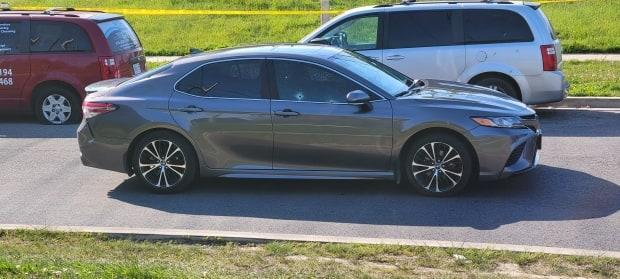 A Toyota Camry was located in the area of Richgrove Drive and Willowridge Road with bullet holes.
