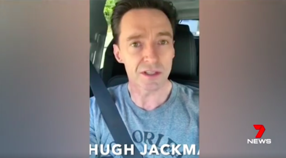 Hugh Jackman was among a series of Aussie stars to wish Alex all the best in his road to recovery. Source: 7News