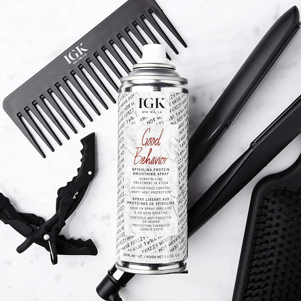 <p>The <span>IGK Good Behavior Spirulina Protein Smoothing Spray</span> ($22, originally $32) is a heat protectant that will eliminate frizz for a smooth, high-shine finish. You'll have a salon-quality blowout right at home. </p>