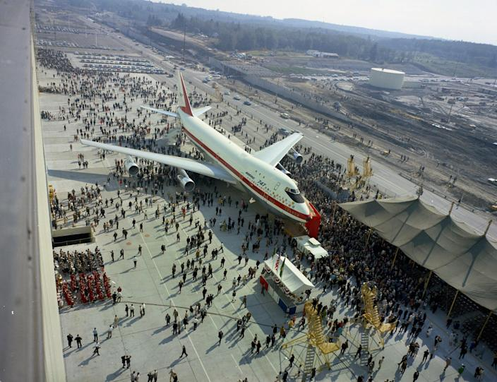 The rollout of the 747.