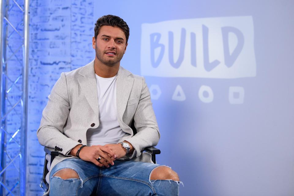 Mike Thalassitis from 'Celebs Go Dating' during a BUILD panel discussion on February 7, 2018 in London, England. (Photo by Joe Maher/Getty Images)