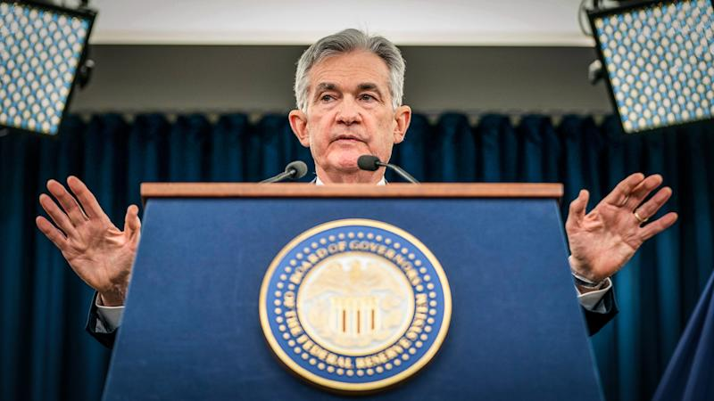Federal Reserve Chairman Jerome Powell announces Fed interest rate hike