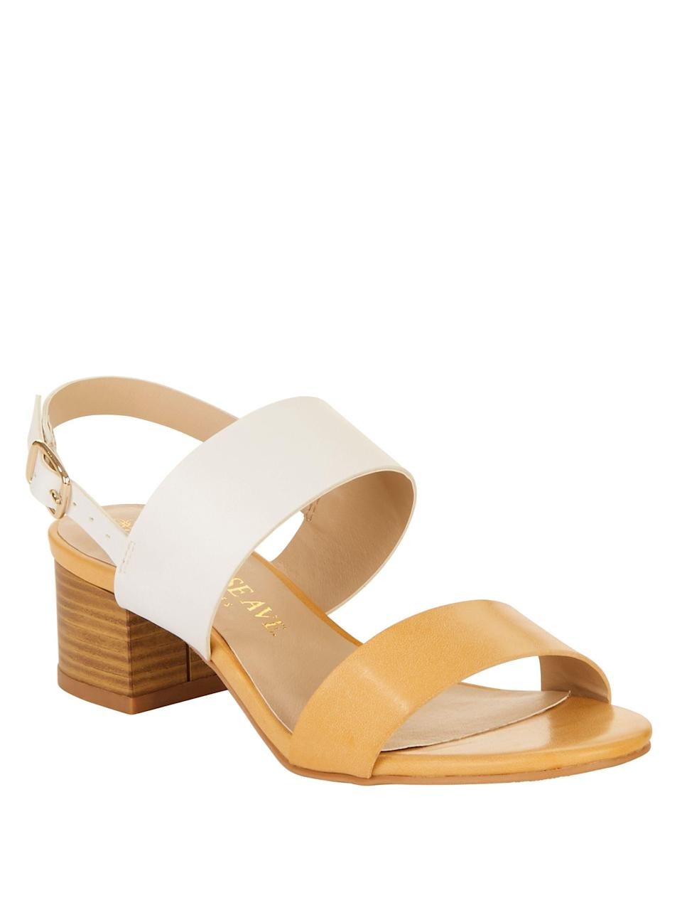"<h3>Block-Heeled Sandals</h3><p>We love the tonal hues of these block-heeled sandals — they're definitely walking us to work with us this summer <em>and</em> getting packed for all the destinations weddings.</p><br><br><strong>Melrose Ave</strong> Next Time Vegan Heeled Sandal, $21.95, available at <a href=""https://www.walmart.com/ip/Melrose-Ave-Women-s-Next-Time-Vegan-Heeled-Sandal/668328034"" rel=""nofollow noopener"" target=""_blank"" data-ylk=""slk:Walmart"" class=""link rapid-noclick-resp"">Walmart</a>"